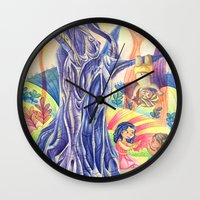india Wall Clocks featuring India by ArtByG