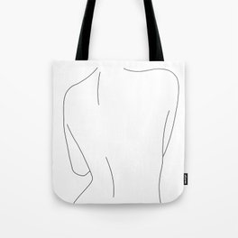 Nude back line drawing illustration - Drew Tote Bag