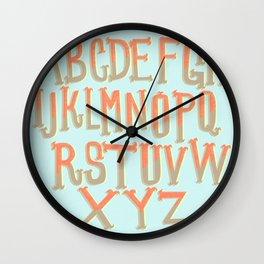 the ABC's Wall Clock