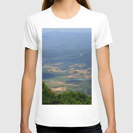 River, Tree and Mountain Landscape T-shirt