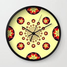 Fireballs Wall Clock