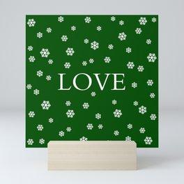 Winter Love - hunter green Mini Art Print