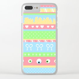Creepy Cute Stripes Clear iPhone Case