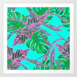 painting oil leaves nature reason Art Print