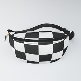 Vintage Chessboard & Checkers - Black & White Fanny Pack