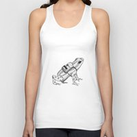 backpack Tank Tops featuring Pack your backpack by Léa Poisson