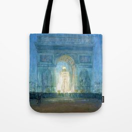 African American Masterpiece 'Washington Square Arch' Greenwich Village, NYC by Henry Ossawa Tanner Tote Bag