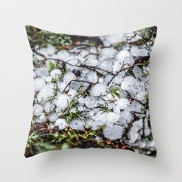 Hail, Granizo Throw Pillow