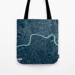 Minimalist London Map Tote Bag
