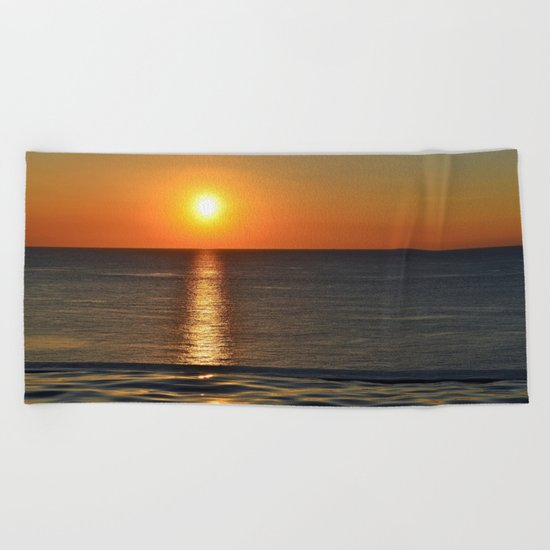 Super Sunset at the Beach Beach Towel