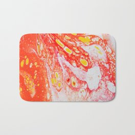 Orange Candy Coating Bath Mat