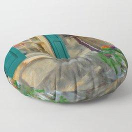 A Victorian Tea Room Floor Pillow