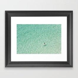 Naked swimming in Paradise Framed Art Print
