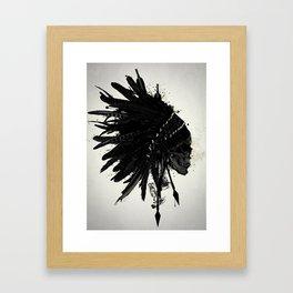 Warbonnet Skull Framed Art Print