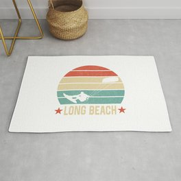 Long Beach  TShirt Kite Boarding Shirt Kite Surfing Gift Idea Rug