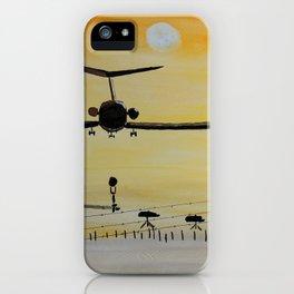 Yellow last flight iPhone Case