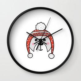 Christmas cute bear Wall Clock