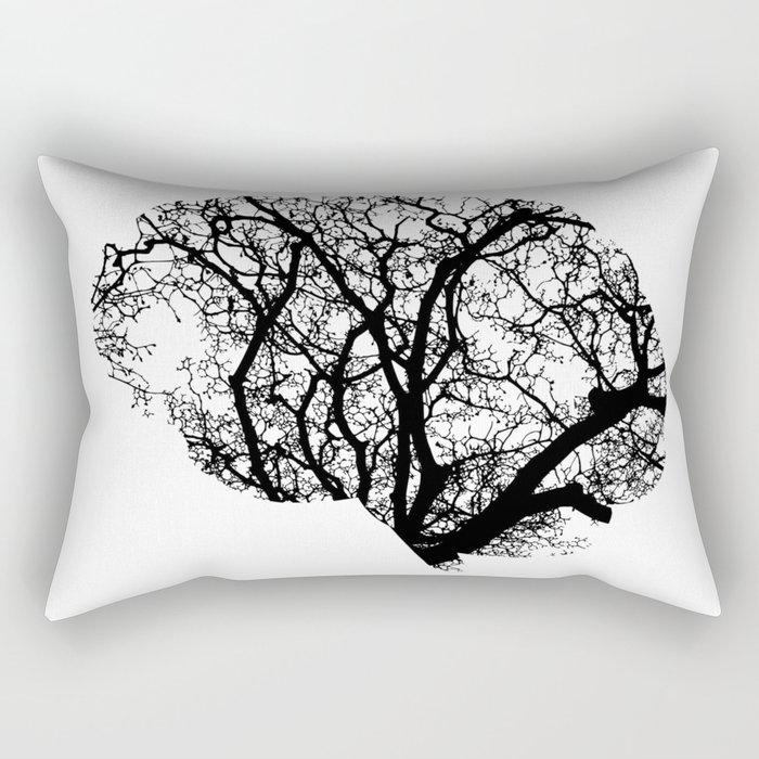 Brain Tree Rectangular Pillow