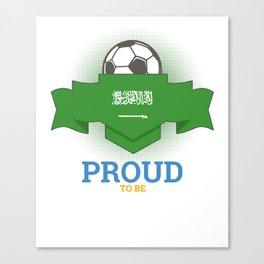 Football Saudis Saudi Arabia Soccer Team Sports Footballer Goalie Rugby Gift Canvas Print
