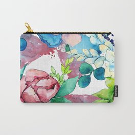 Floral Bouquet in Pastel Pinks and Blues Carry-All Pouch