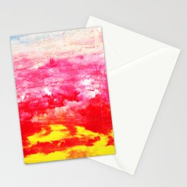 Primary Clouds Abstract Stationery Cards