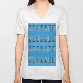 blue window Unisex V-Neck