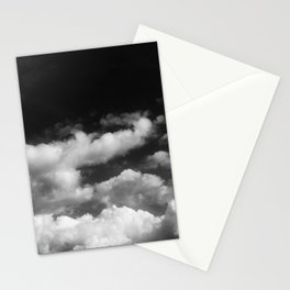 Clouds in black and white Stationery Cards