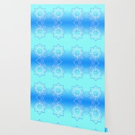 Lotus Mandala (Blue) Wallpaper