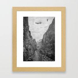Canyon railroad Framed Art Print