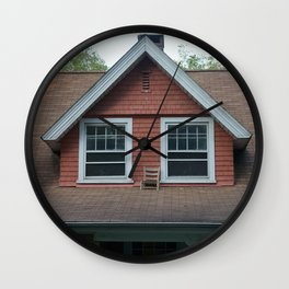 Chair on the roof Wall Clock