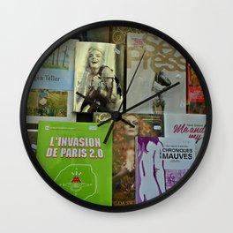 Pulp fiction by Lika Ramati Wall Clock