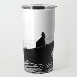 In search of peace, Varanasi. INDIA Travel Mug