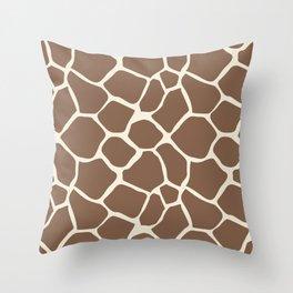 Giraffe Pattern Animal Print (brown) Throw Pillow
