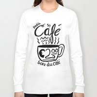 cafe Long Sleeve T-shirts featuring Paris Cafe by Geryes