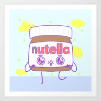 nutella Art Prints featuring Nutella by grecia colunga