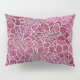 Dahlia Flower Pattern 2 Pillow Sham