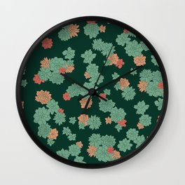 Succulents - Large Wall Clock