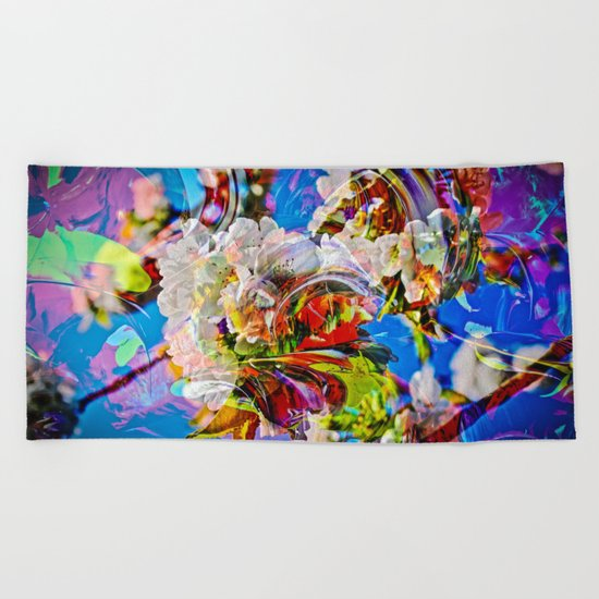 Abstract Perfection 14  Spring Beach Towel
