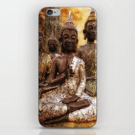 the 4 Buddhas iPhone Skin