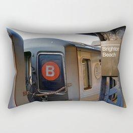 B Train Blues Rectangular Pillow