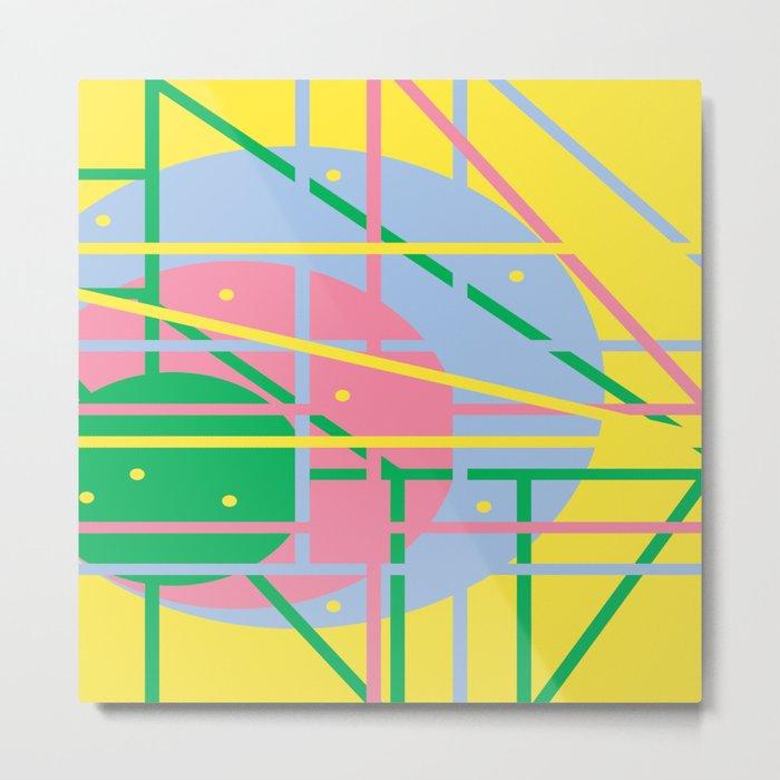 Colours Q Metal Print