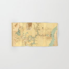 Map of the Proposed Panama Canal (1906) Hand & Bath Towel