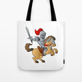 Knight on Horse Tote Bag