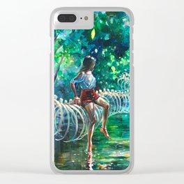 Dopamine Jungle Clear iPhone Case