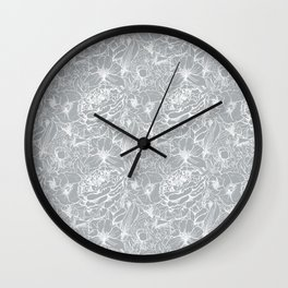 Of Peonies & Poppies - Paloma Blue Edition Wall Clock