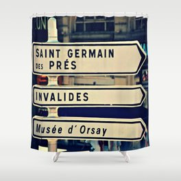 Saint Germain de Pres Shower Curtain