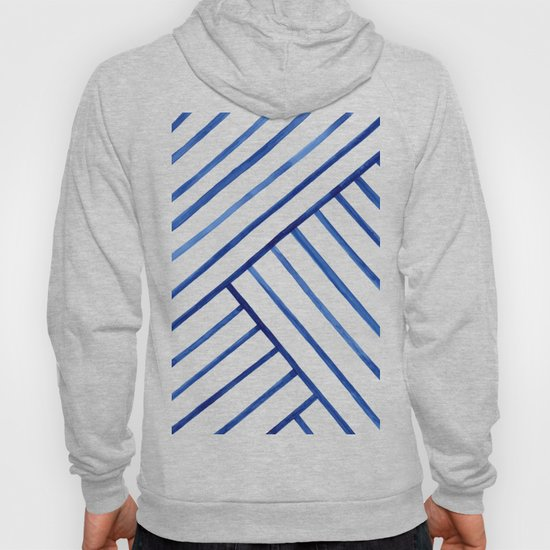 Watercolor lines pattern | Navy blue by ccartstudio