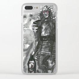 spirit of war (2): samourai warrior Clear iPhone Case
