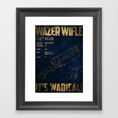 Wazer Wifle Poster Framed Art Print
