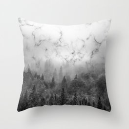 Marble Woods Throw Pillow